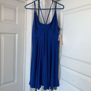 JustFab Deep blue stretchy dress